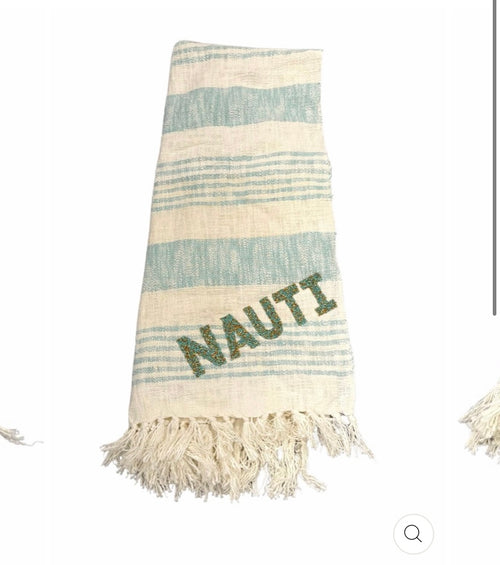 NAUTI Beaded Beach Towel
