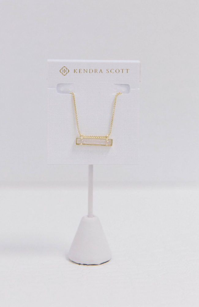 Kendra Scott Leanor Bar Drusy Necklace