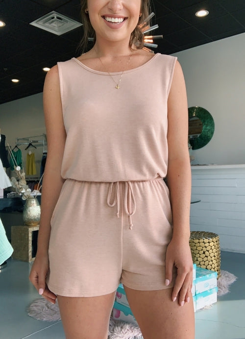 Blush Sleeveless Romper