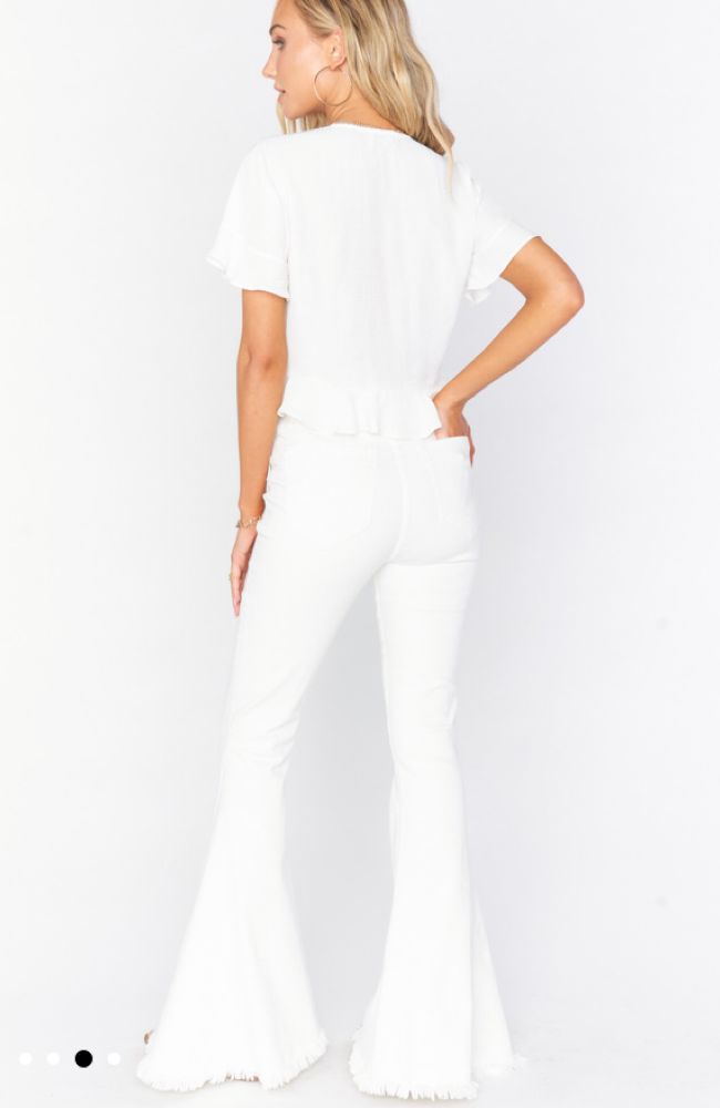 MuMu Berkeley White ZIP Up Bells