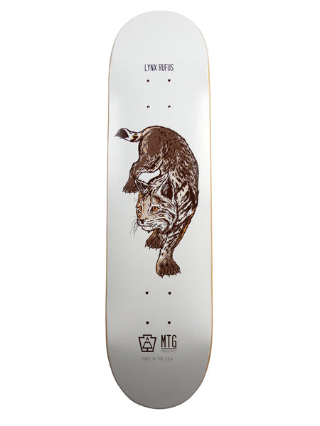 "MTG Industries WildLife Series Skateboard Deck - 8.0"" Lynx Rufus (North American Bobcat)"