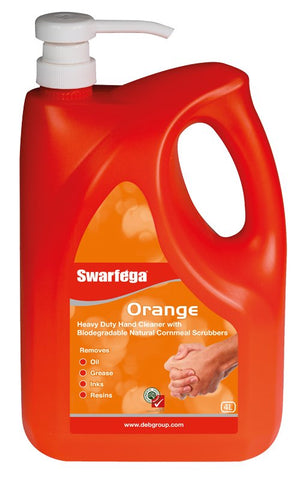Swarfega® Orange with Pump (4 Liters)
