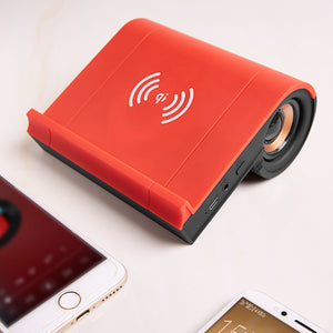 Carregador Wireless para celular com Caixa de Som Bluetooth