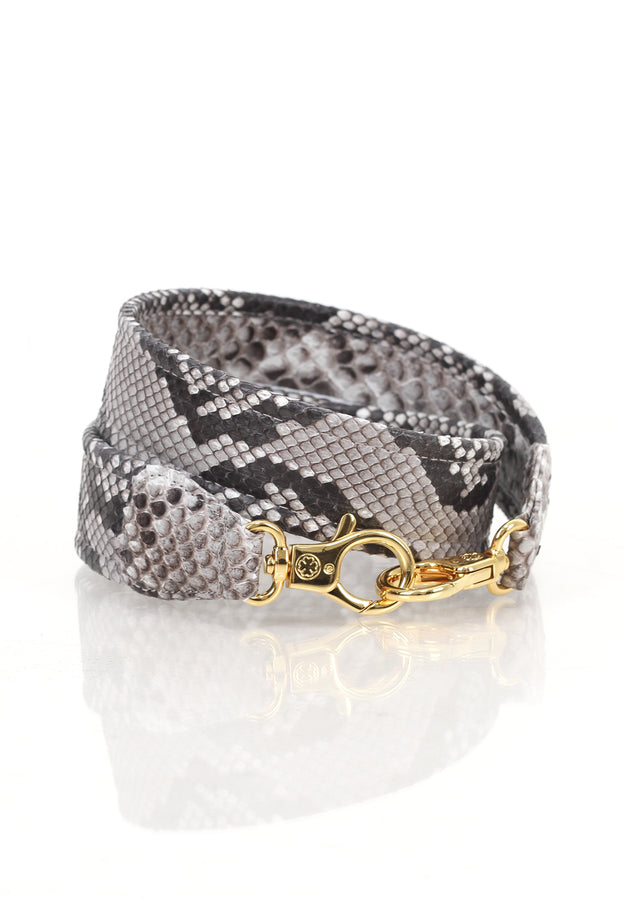Ombre Python Skin Leather Strap (Naturalle)