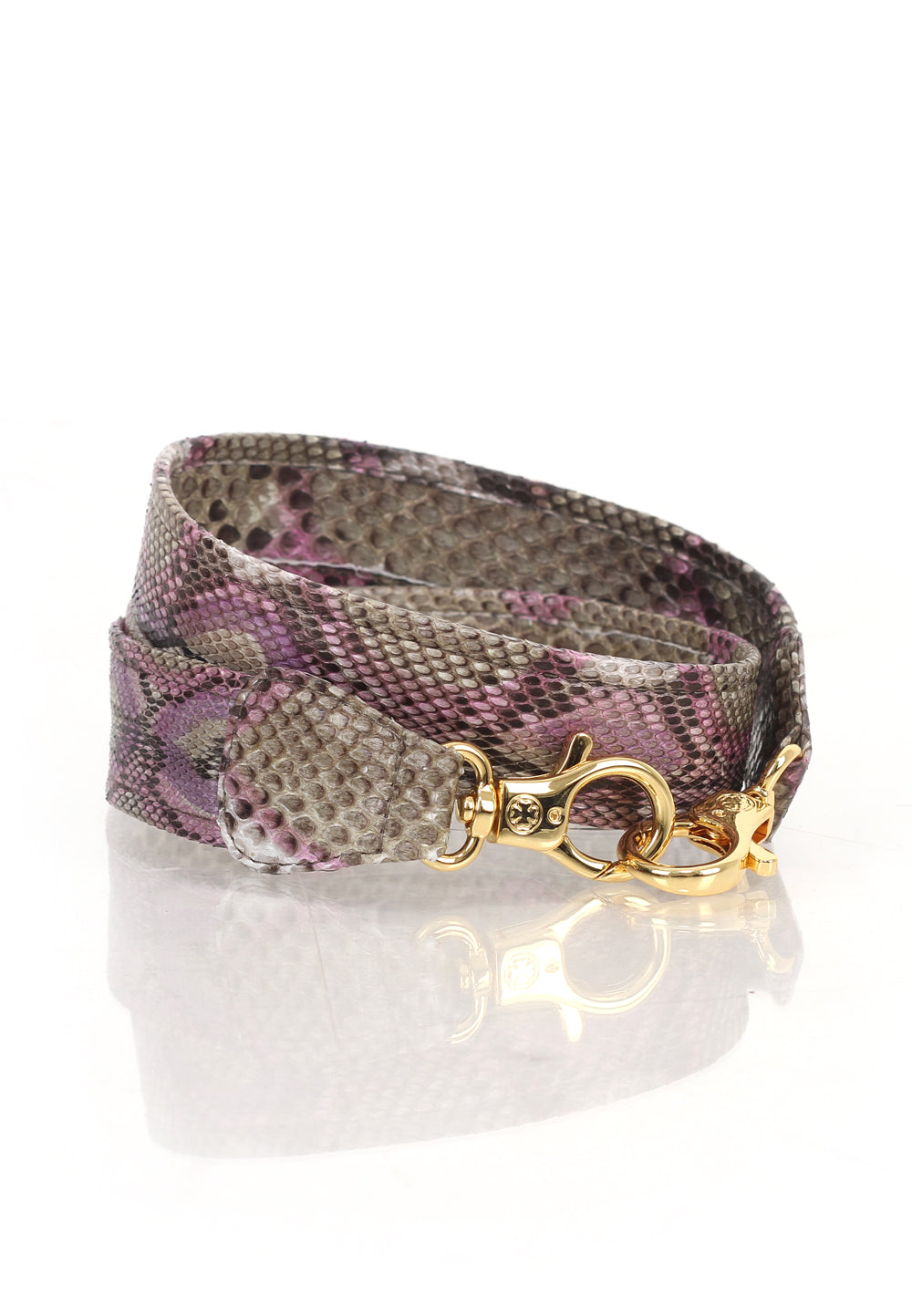 Ombre Python Skin Leather Strap (Lilac)