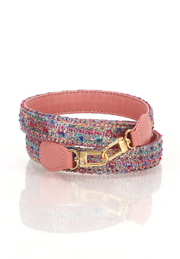 Le-Petit Calfskin Leather Strap (Pink Tweed)