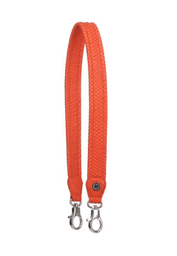 Python Skin Leather Strap (Red Coral)