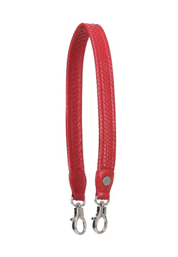 Python Skin Leather Strap (Red)