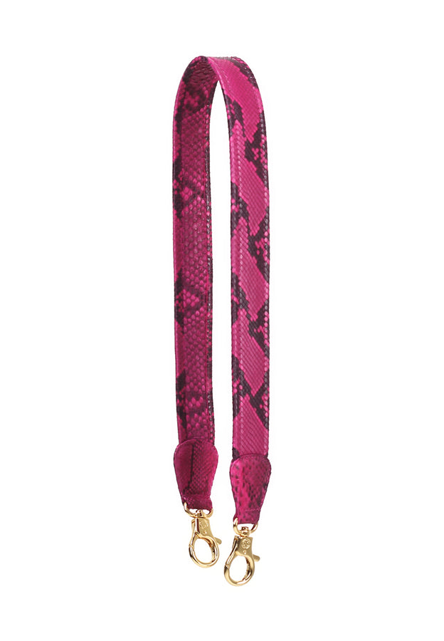 Ombre Python Skin Leather Strap (Pink Electric)