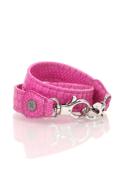 Python Skin Leather Strap (Hot Pink)