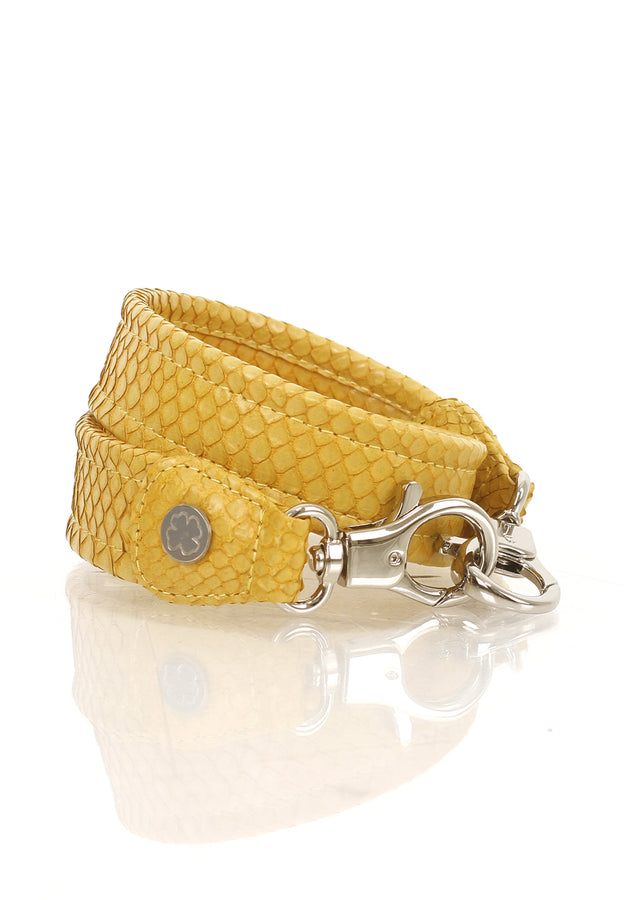 Python Skin Leather Strap (Yellow)