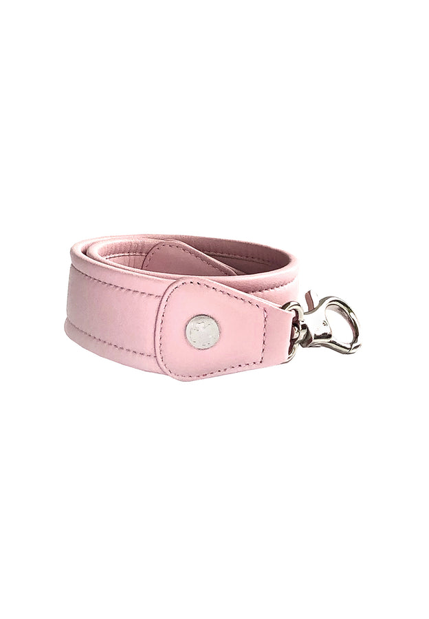 Lambskin X-Wide Leather Straps (Ballet Pink)