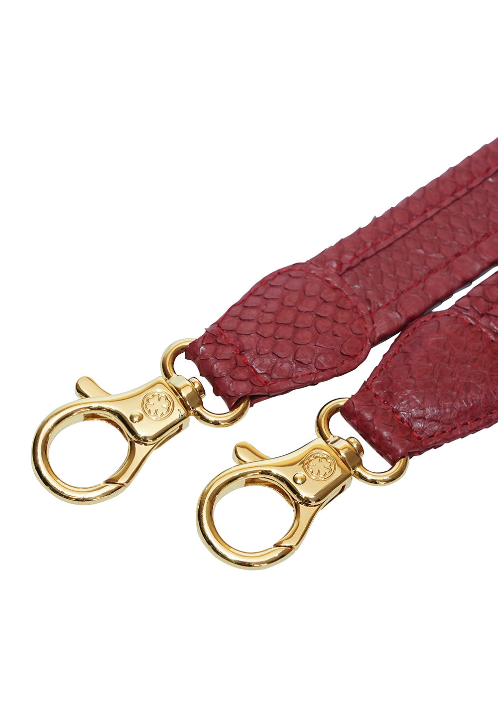 Python Skin Leather Strap (Burgundy)