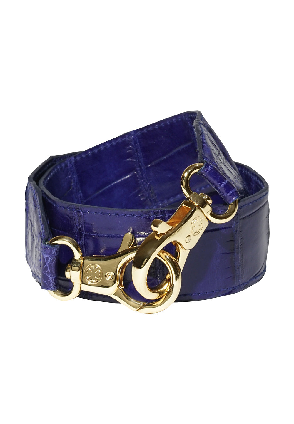 Limited Edition : Crocodile Skin Leather Straps (Blue Electric)