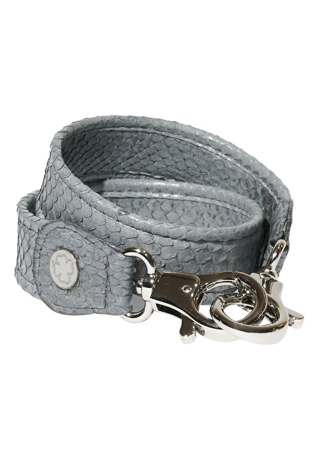 Python Skin Leather Strap (Light Grey)