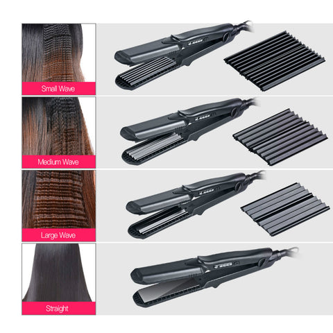 4 IN 1 PROFESSIONAL HAIR CURLER & STRAIGHTENER - 90210 Imports