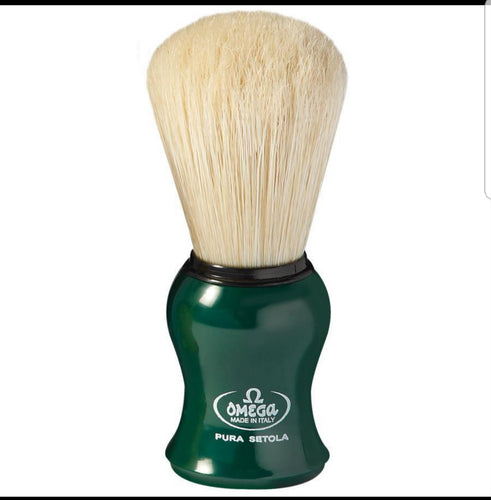 OMEGA BOAR BRISTLE SHAVING BRUSH, Green
