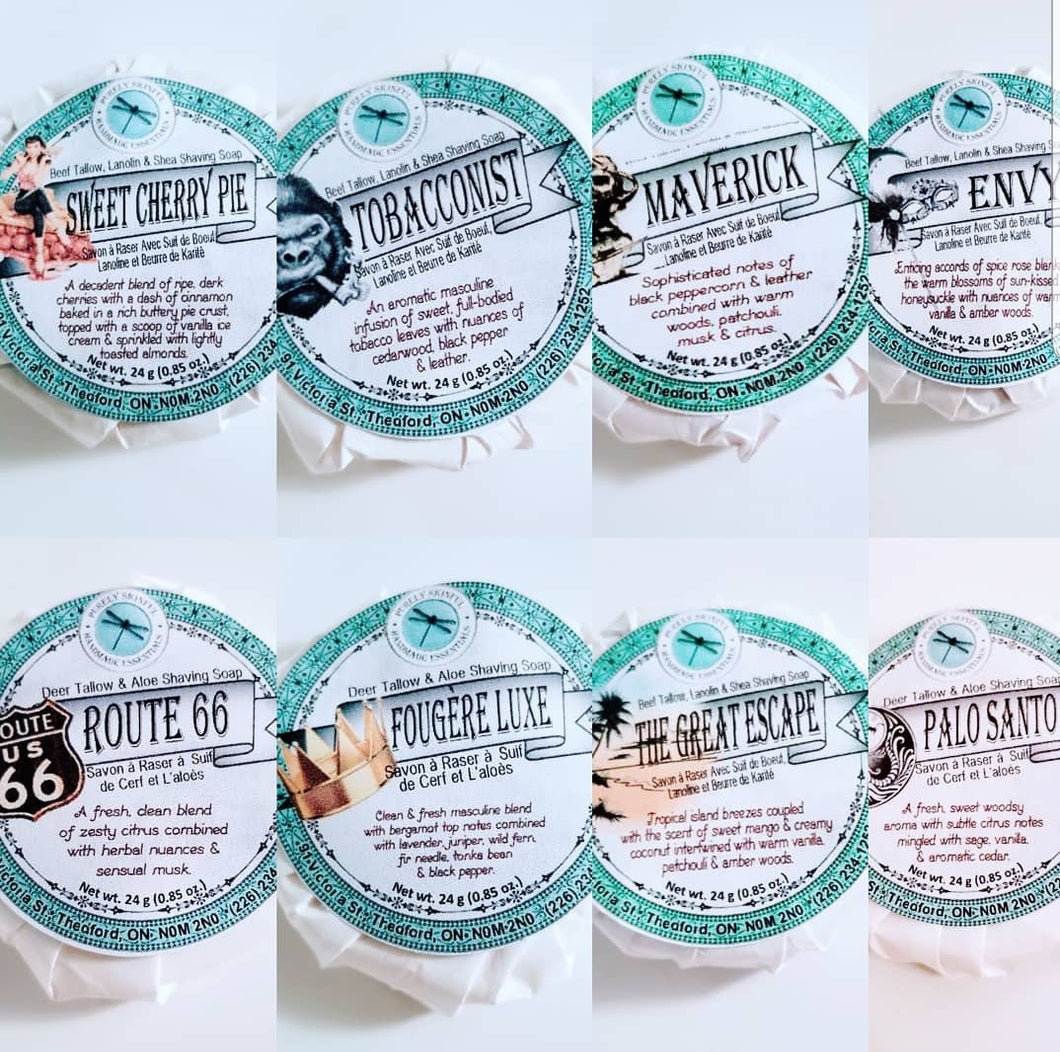 Purely Skinful Sample Shaving Soap Pucks