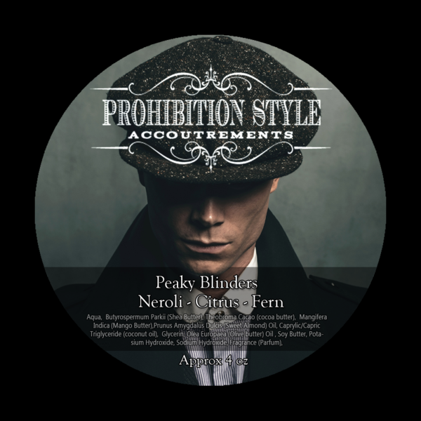 Prohibition Style Premium Vegan Shave Soap- Peaky Blinders