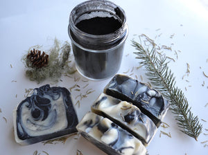 Lamb's Soapworks TEA TREE EUCALYPTUS ACTIVATED CHARCOAL BAR