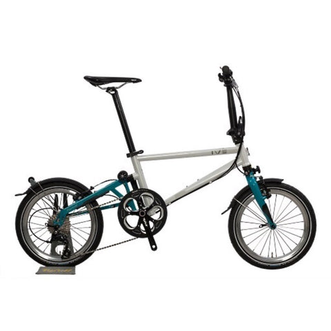 Tyrell IVE Folding Bike - Pearl White/Turquoise