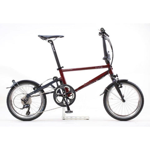 Tyrell IVE Folding Bike - Wine Red/Dark Grey
