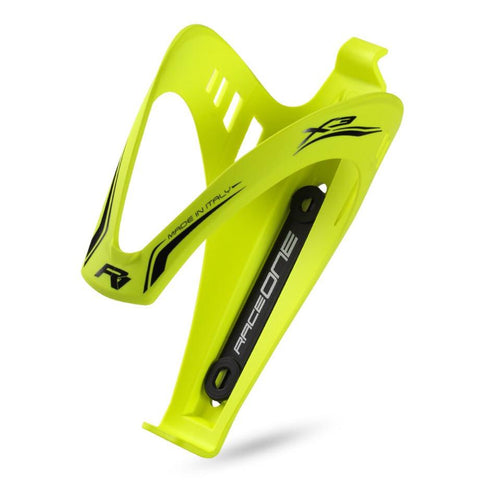 RaceOne X3 Rubberized Bottle Cage - Yellow