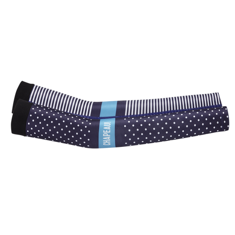 Chapeau! Arm Warmer - Polka Stripe Block, Midnight Blue