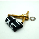 Motomachi Brompton Hinge Clamp & Gold Lever - Black & White British Flag
