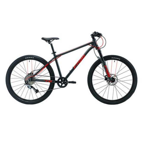 Frog MTB 72 Kids Bike - Metallic Gey/Neon Red