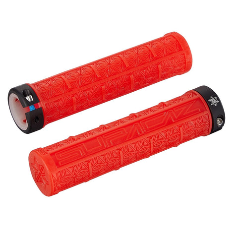 Supacaz Grizips Clear Grips - Red