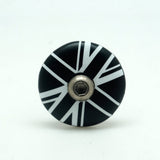 Motomachi Brompton Stop Disc - Black & White British Flag