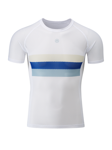 Chapeau! Mesh SS Base Layer - Exe Blue Striped