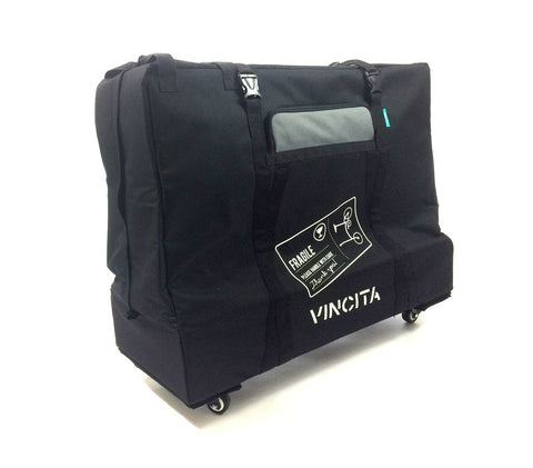 "Vincita B132TD Folding Bike 20"" Transport Case with 4 Wheels"