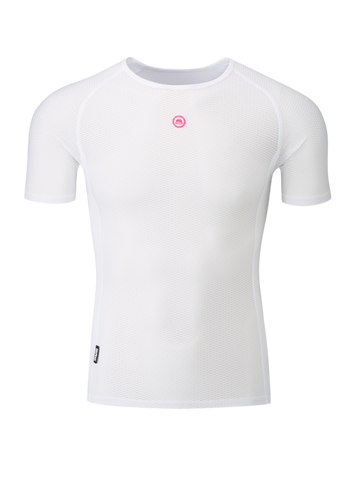 Chapeau! Mesh SS Base Layer - Hot Pink Logo
