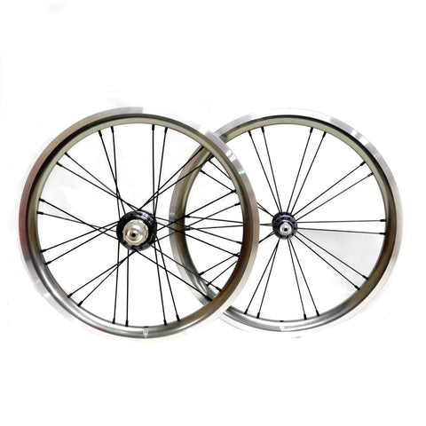 Wheelsport Brompton 2 Speed Alloy Wheelset - Silver/Grey