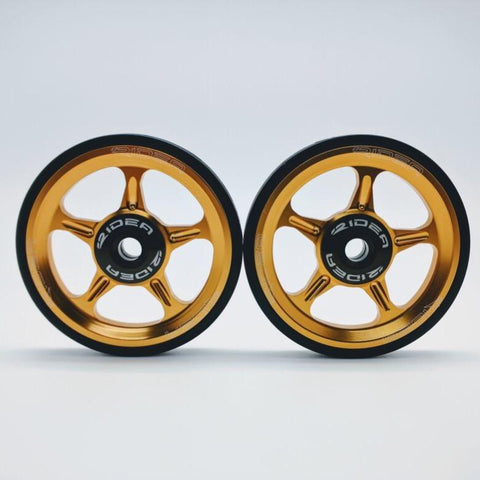 Ridea ESEW1-CB Brompton Easy Wheel - Gold (2pcs)
