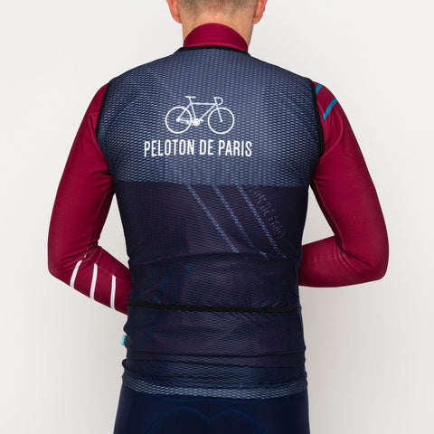 Peloton de Paris Race Gilet Navy
