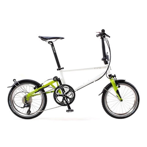Tyrell IVE Folding Bike - Pearl White/Lime Green Metallic