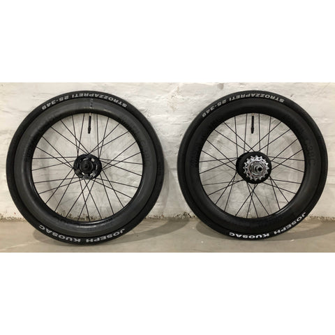 Joseph Kuosac C38C Brompton 6 Speed Carbon Wheelset (349) - Black Decal