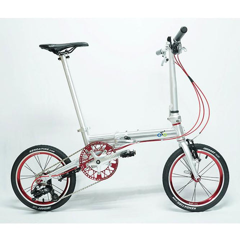 Flock OTD 14 Version 2.0 - 3 Speed Folding Bike - Silver