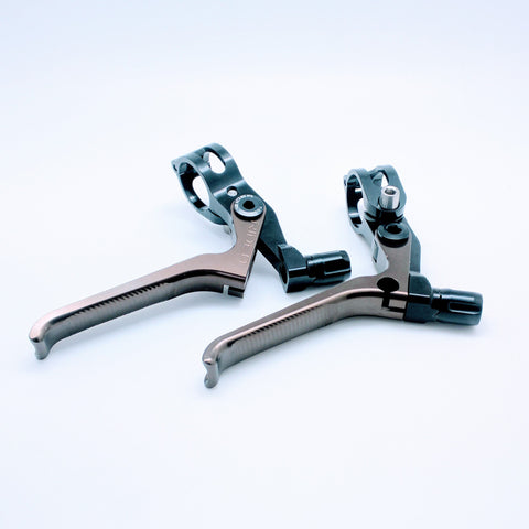 Ridea ESBH2-CR Brompton 3D Long Brake Lever - Black Copper (2pcs)