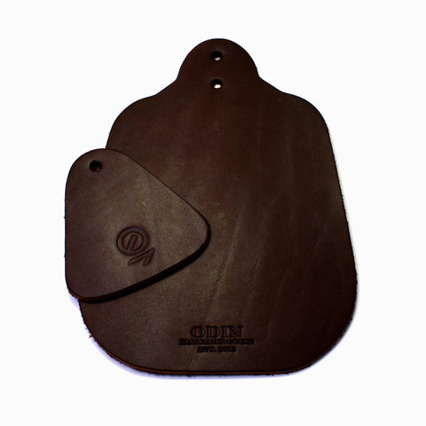 Odin Brompton Leather Mudflaps - Chocolate