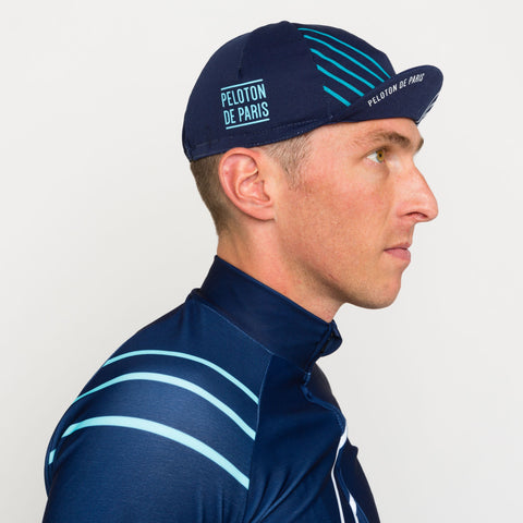 Peloton de Paris Lanes Navy Cycling Cap