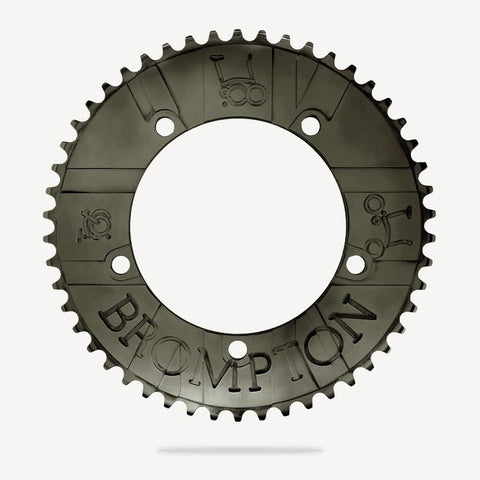 Bespoke Brompton Flag Chainring - Black (54T/BCD130)
