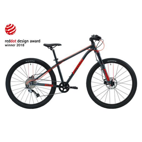Frog MTB 62 Kids Bike - Metalic Grey/Neon Red