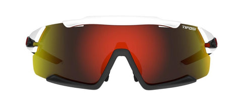 Tifosi Aethon White/Black Sunglasses - 3 Lenses: Clarion Red/AC Red/Clear