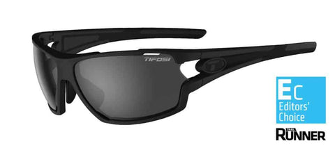 Tifosi Amok Matte Black Sunglasses - 3 Lenses: Smoke/AC Red/Clear