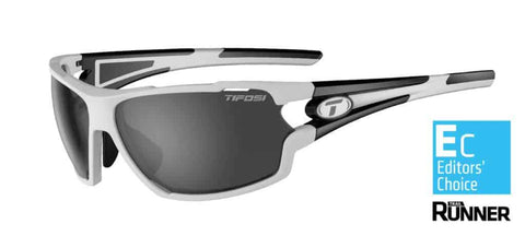 Tifosi Amok White/Black Sunglasses - 3 Lenses: Smoke/AC Red/Clear