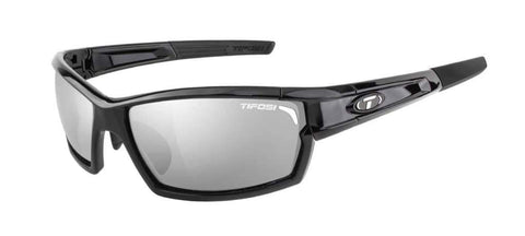 Tifosi Camrock Gloss Black Sunglasses - 3 Lenses: Smoke/AC Red/Clear